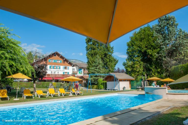 vue piscine parc