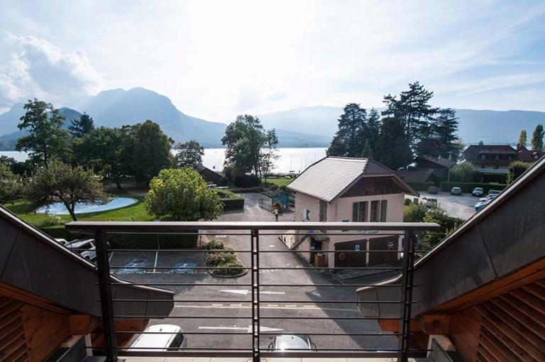 Balcon vue lac