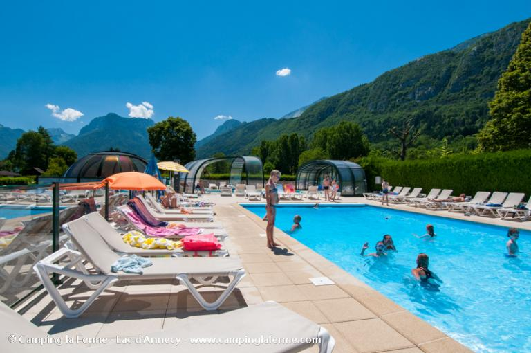 Camping la ferme lac d 39 annecy for Piscine spa annecy