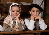 enfants à l'écomusée du lac d'annecy